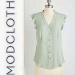 Myrtlewood  Thread & Flutter Sage Top